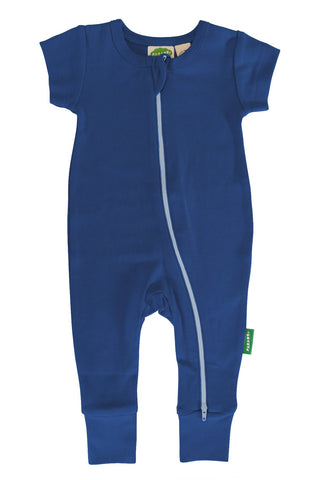 Essential Basic 2-Way Zipper Romper - Cobalt Blue
