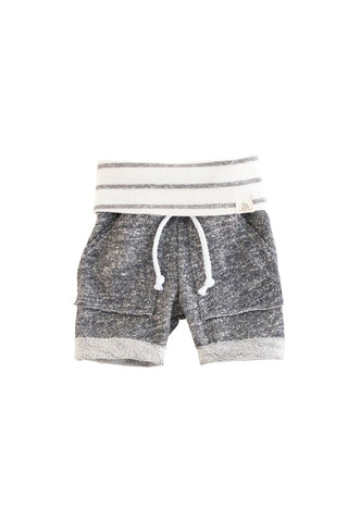 Gray and Coastal Stripe Boy Shorts