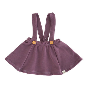 Fig Button Suspender Skirt