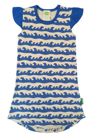 Flutter Dress - Blue Surf