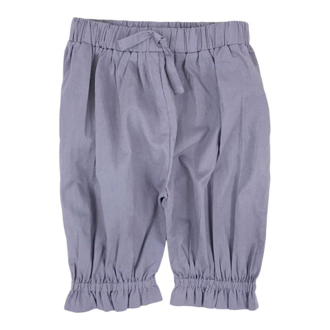 Ruffled Pant in Purple Ash