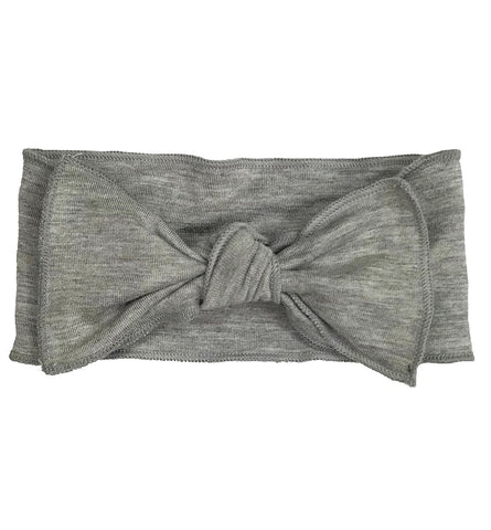 Heather Grey Bow