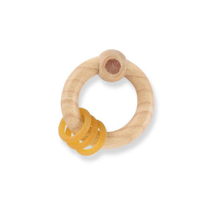 Rubberwood Rattle Natural