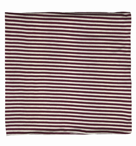 Maroon + White Stripe Swaddle