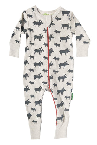 Signature 2-Way Zipper Romper -  Grey Moose