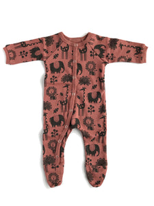 You Snooze You Win PJ  in Piha Print, Apricot