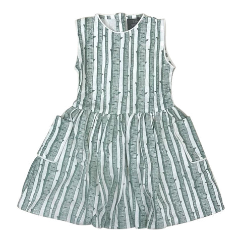 Piped Bubble Dress in Birch