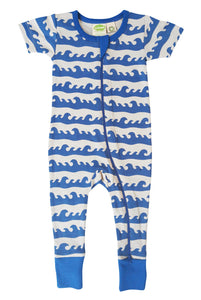 Signature 2-Way Zipper Romper - Blue Surf