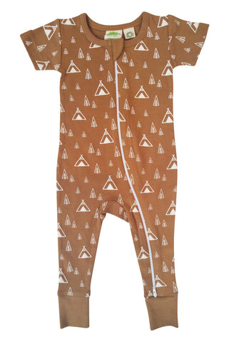 Signature 2-Way Zipper Romper - Camping