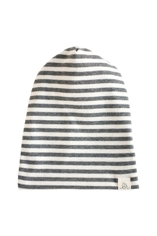 Gray Stripes Slouchy Beanie