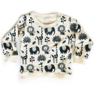 Every Body Sweatshirt in Piha Print, Natural