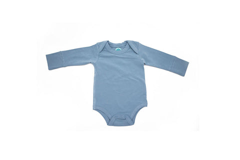 Grow With Me Long Sleeved Onesie in Misty Blue