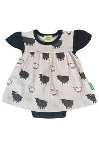 Onesie Dress - Grey Sheep