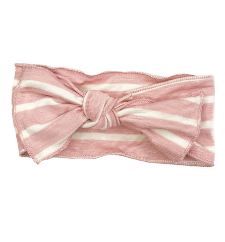 Blush + White  Bow