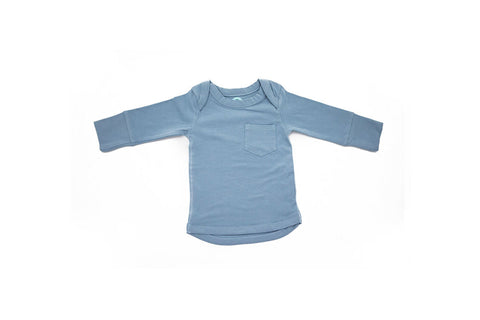Super Soft Long Sleeved Top in Misty Blue