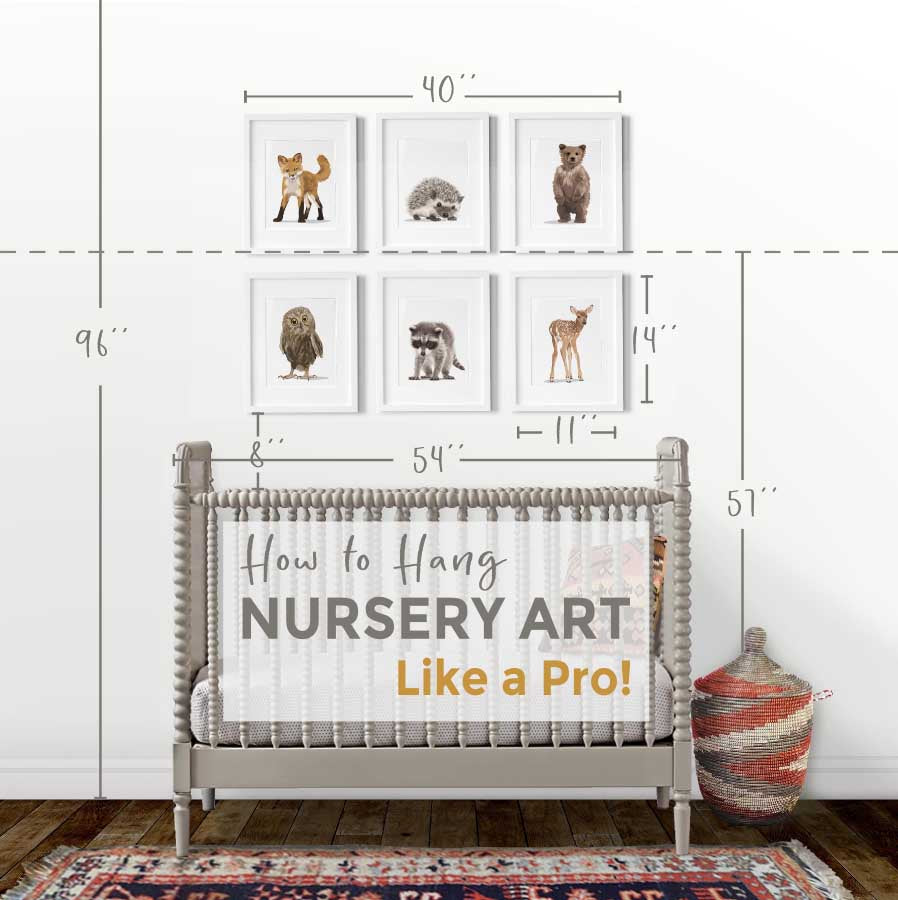 How to Hang Nursery Art:  Size and Groupings