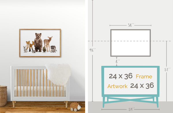 How to Hang Nursery Art: Size and Groupings – Paper Llamas