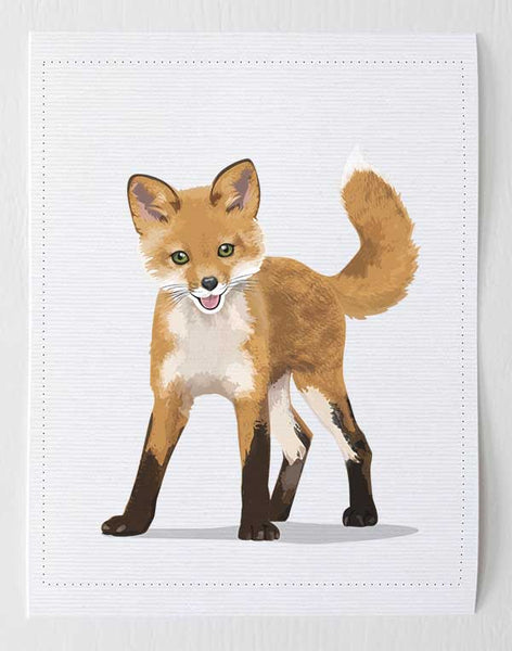 Baby Fox  - baby nursery art from Paper Llamas