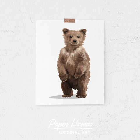 Baby Bear cub Printable  - printable woodland  forest nursery art from Paper Llamas