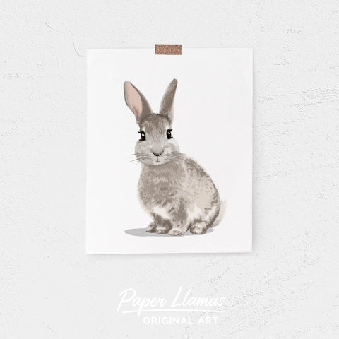 Baby Bunny Printable  - baby nursery art from Paper Llamas