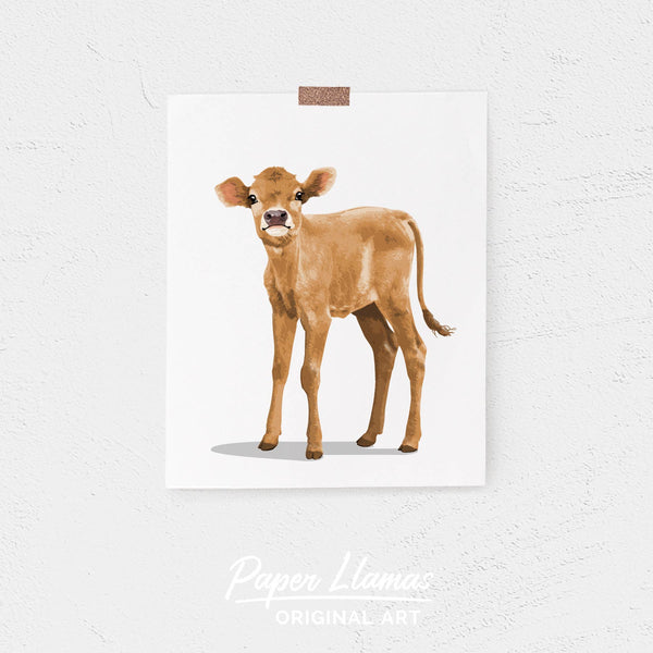 Baby farm Cow Printable  - baby printable art from Paper Llamas