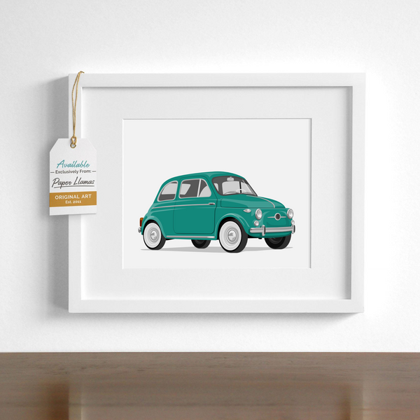 Fiat  - baby nursery art from Paper Llamas