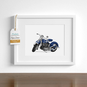Motorcycle  - baby nursery art from Paper Llamas