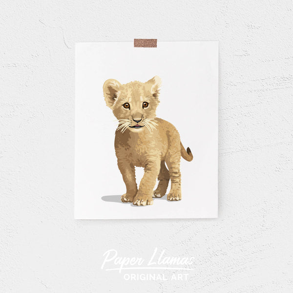 Baby Lion Printable  - baby nursery art from Paper Llamas