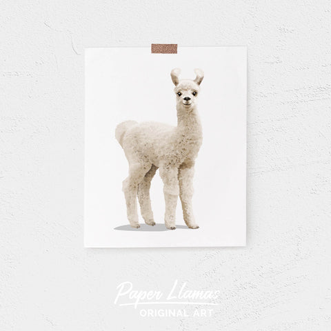 Baby Llama Printable  - baby nursery art from Paper Llamas