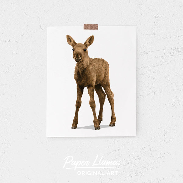Baby Moose Printable  - baby nursery art from Paper Llamas