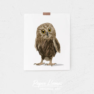 Baby Owl Printable  - baby nursery art from Paper Llamas