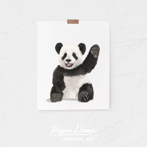 Baby Panda Printable  - baby nursery art from Paper Llamas