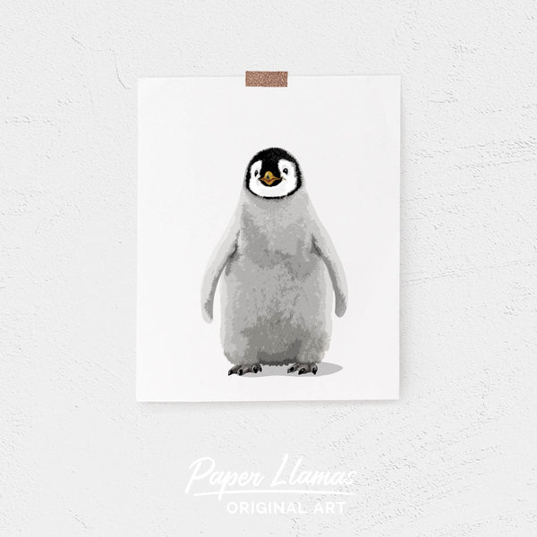 Baby Penguin Printable  - baby nursery art from Paper Llamas