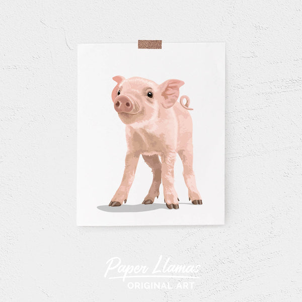 Baby Pig Printable  - baby nursery art from Paper Llamas