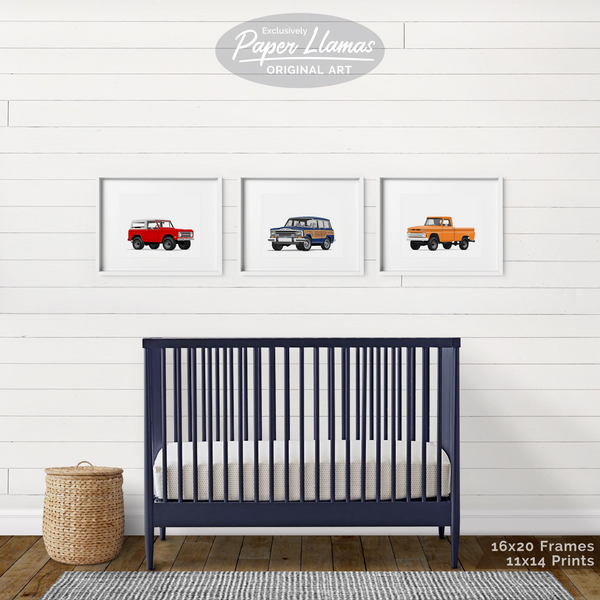 Bronco Printable  - baby nursery art from Paper Llamas