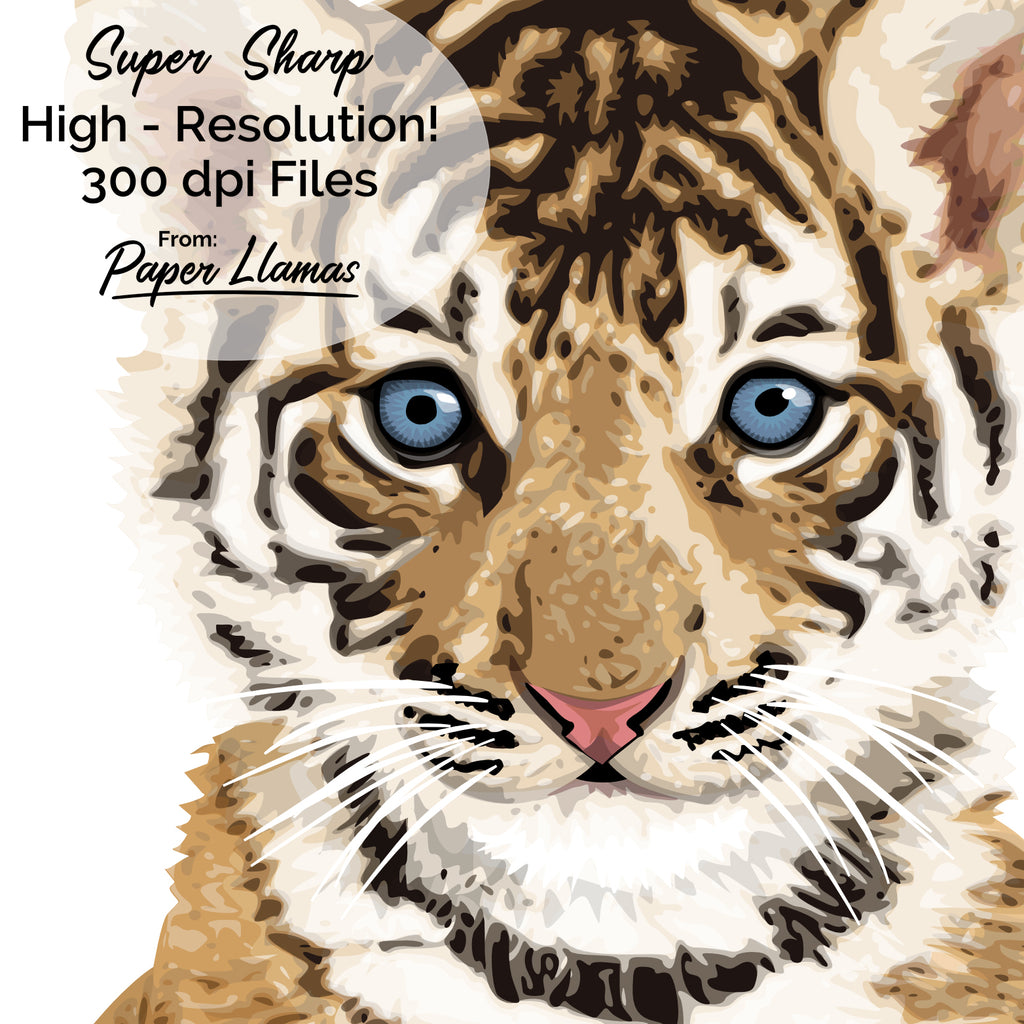 graphic about Printable Tiger Pictures referred to as Kid Tiger Printable Paper Llamas