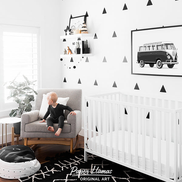 VW Van  - baby nursery art from Paper Llamas
