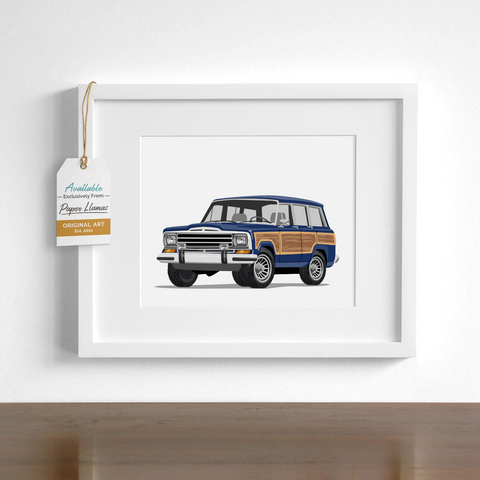 Wagoneer  - baby nursery art from Paper Llamas
