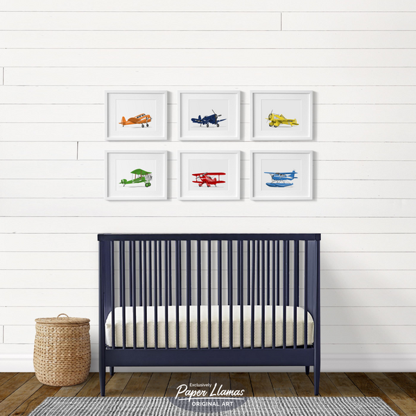 Sopwith Pup  - baby nursery art from Paper Llamas