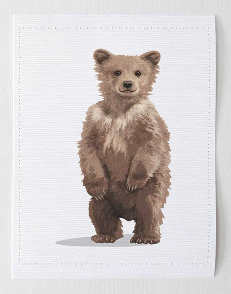 Baby Bear  - Woodland nursery artwork from Paper Llamas