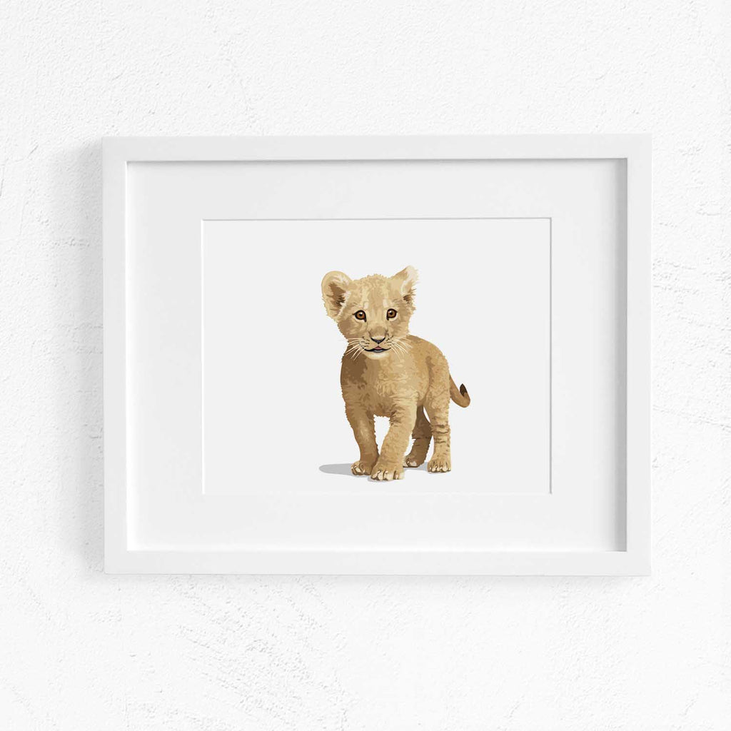 65ef0d65828 ... Baby Lion - baby nursery art from Paper Llamas ...
