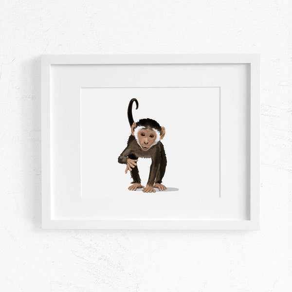 Baby Monkey  - baby nursery art from Paper Llamas