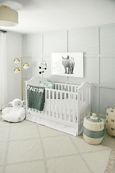 Baby Rhino  - baby nursery art from Paper Llamas