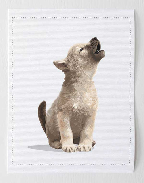 Baby Wolf  - baby nursery art from Paper Llamas