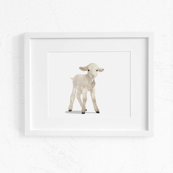 Baby Lamb Printable  - baby nursery art from Paper Llamas