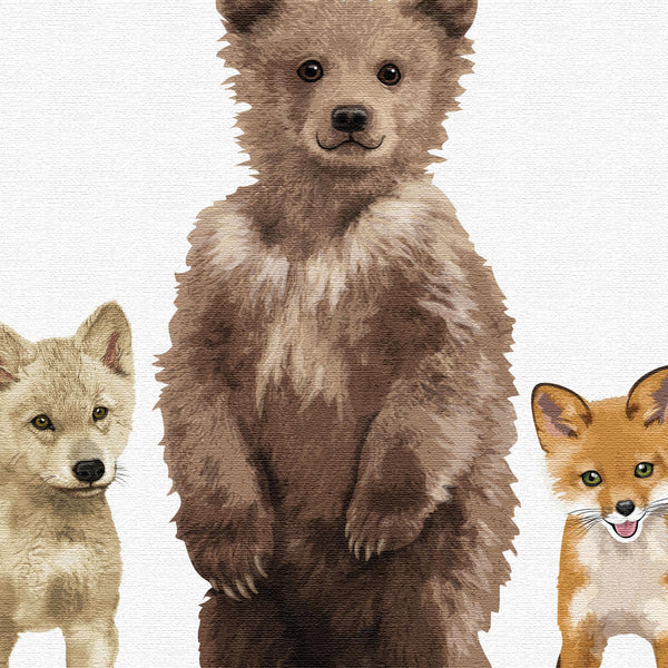 Bear and Friends  - baby nursery art from Paper Llamas