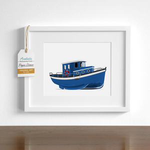 Boat Printable  - baby nursery art from Paper Llamas