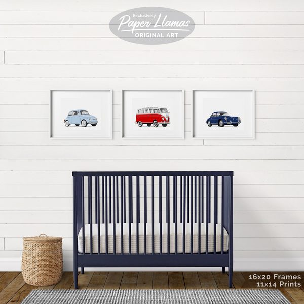 Porsche  - baby nursery art from Paper Llamas
