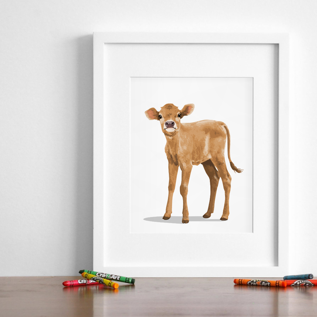 Baby Cow Printable farm animal  - baby nursery printable art from Paper Llamas