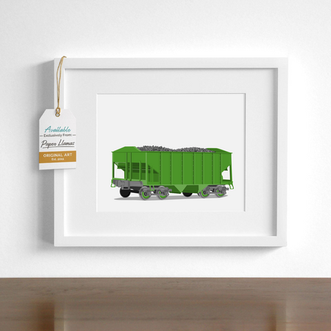 Coal Car  - baby nursery art from Paper Llamas